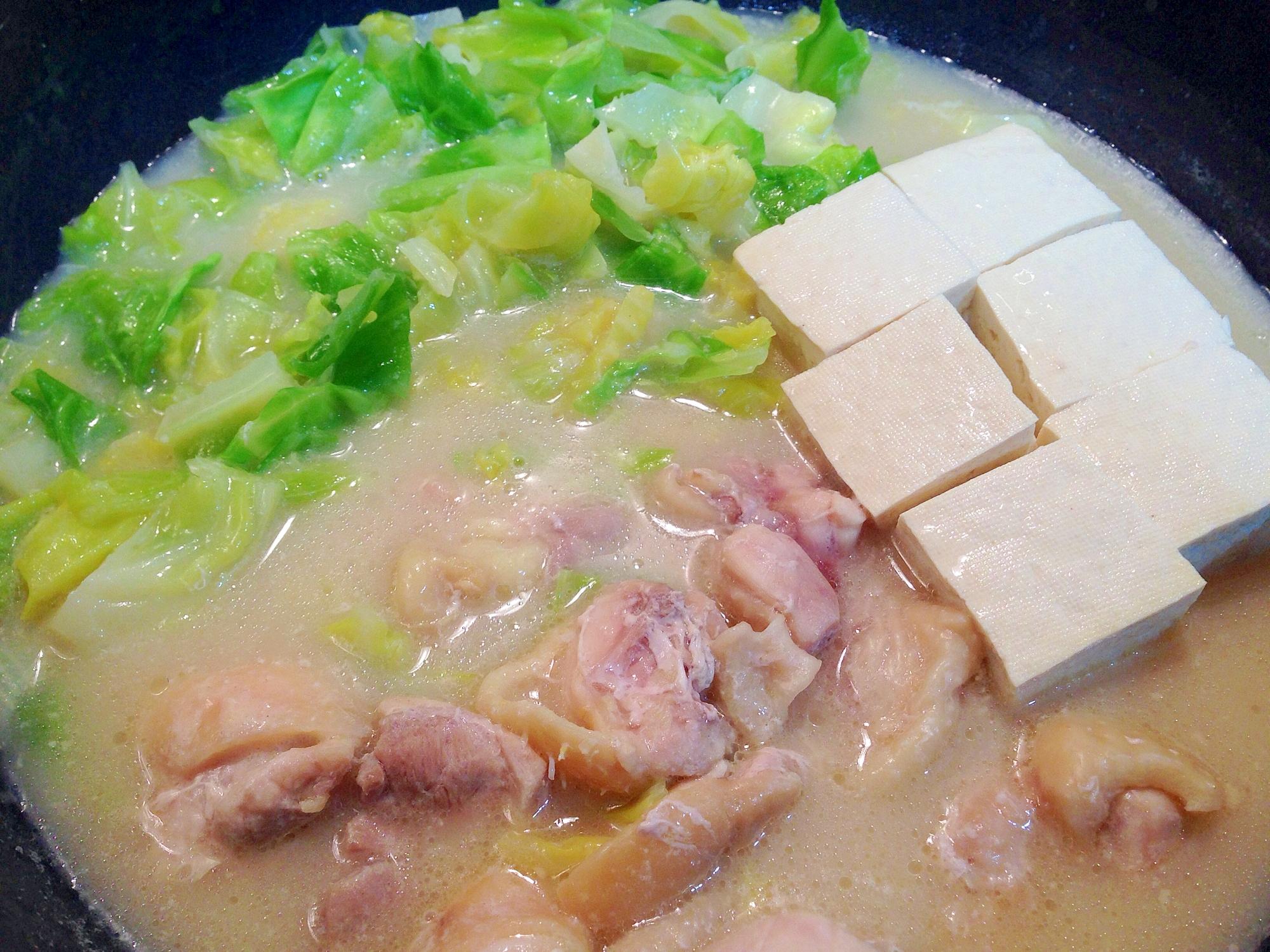 鍋キューブで☆鶏肉とキャベツの白湯鍋 レシピ・作り方 by うーころちゃん|楽天レシピ