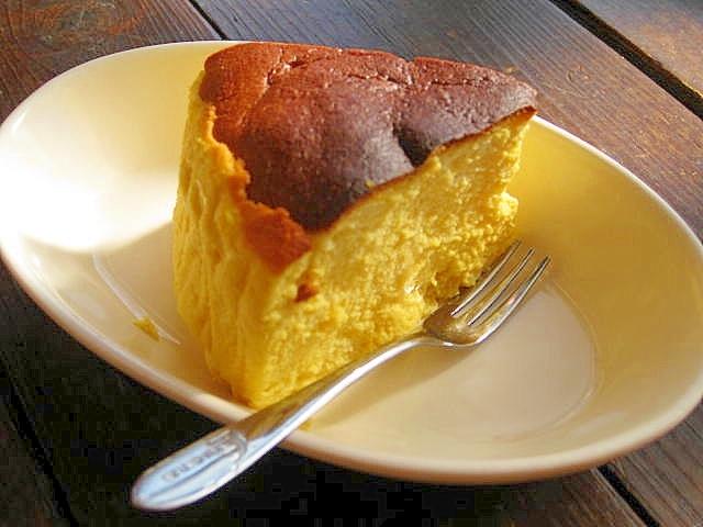 しゅわっと♡濃厚かぼちゃのスフレチーズケーキ レシピ・作り方
