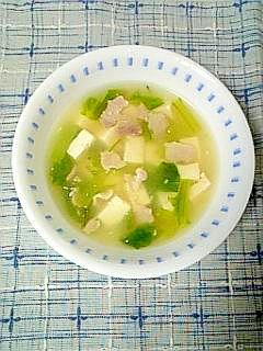 ☆豚バラ豆腐とろみ白湯スープ☆