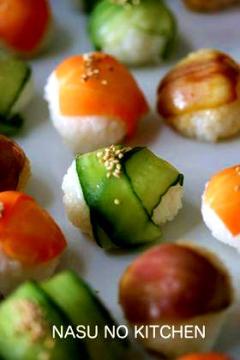 【カラフル野菜てまり寿司】