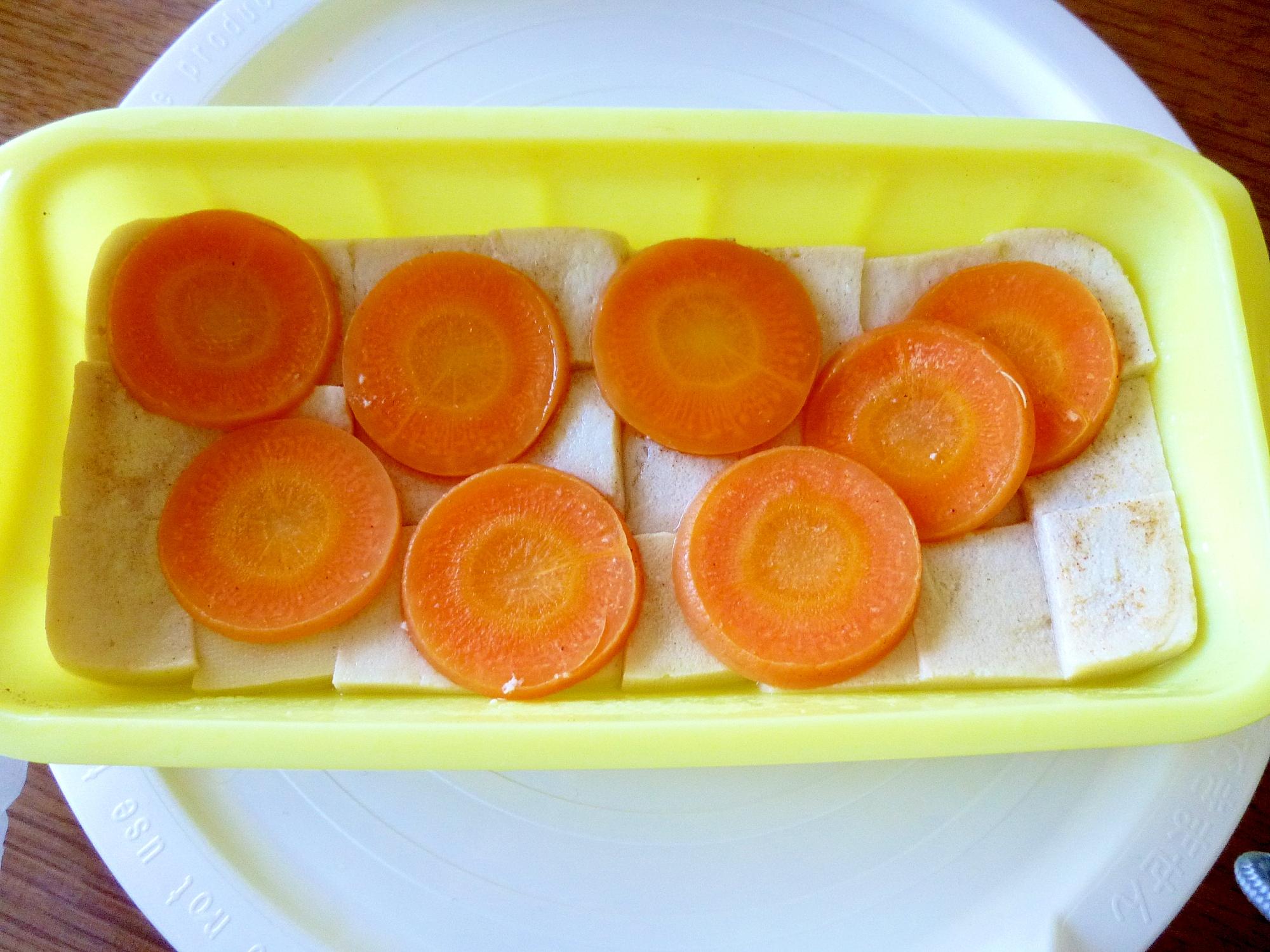 レンジで簡単!高野豆腐と人参の煮物