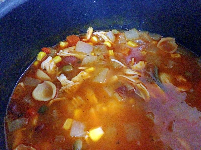 キャンベルミネストローネで具沢山スープ