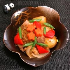 新じゃが&玉と韓国春雨の韓国風コチュジャン肉じゃが