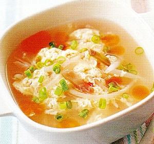 激安中華・ザーサイ卵中華スープ