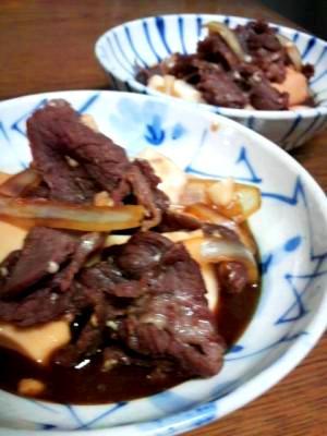 優しい味、黒糖入り肉豆腐