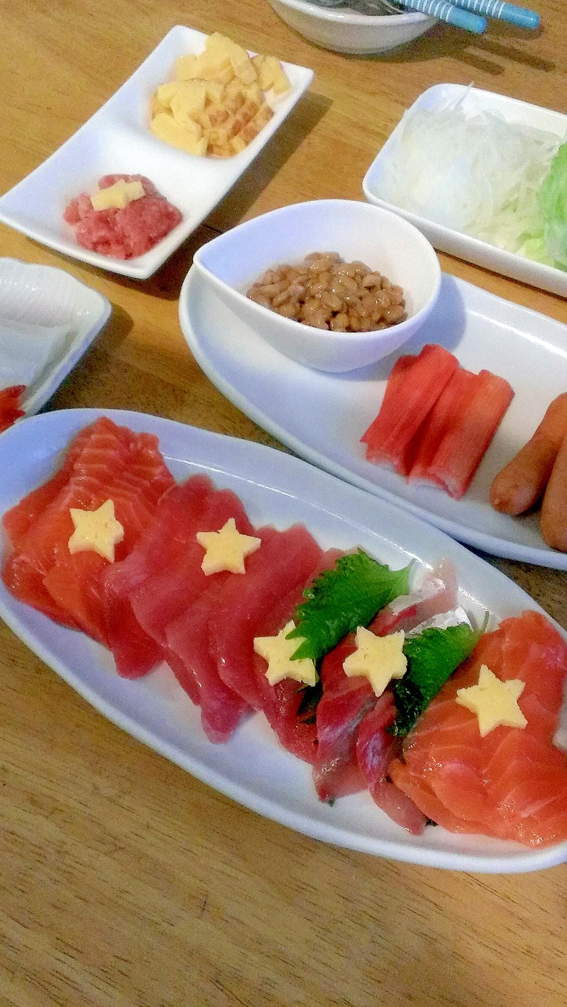 簡単!七夕手巻き寿司♪