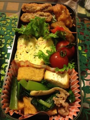 厚揚げと小松菜の野菜炒め