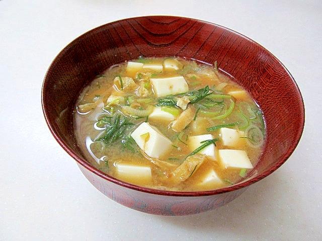 6. おかひじきと豆腐の味噌汁