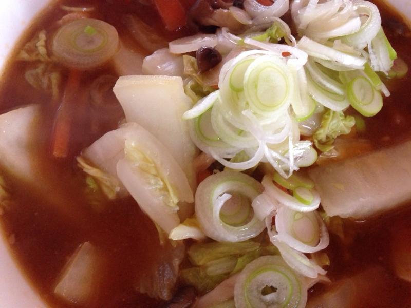 白菜と鶏肉の味噌ラーメン。