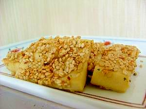 高野豆腐の胡麻ナゲット