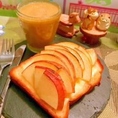 林檎とチーズのブリュレバタートースト