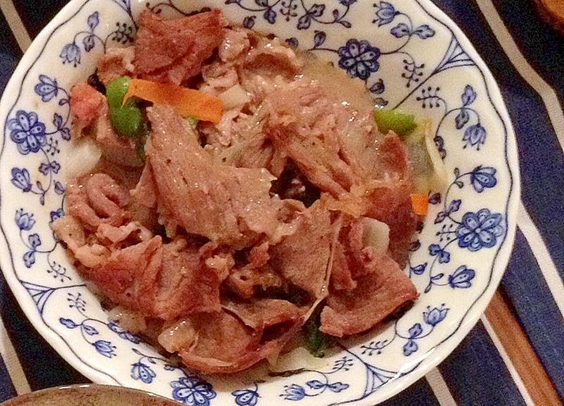 牛肉と野菜の塩炒め