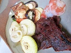 ステーキ野菜バーベキュー焼き