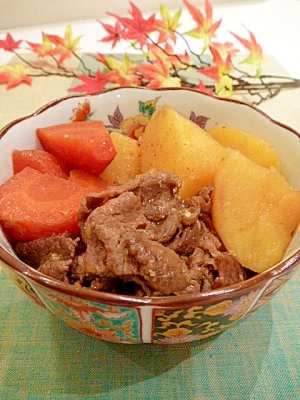 塩麹+カレー粉で☆牛肉と根菜のスパイス煮込み