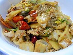 激辛!中華風スープ無し干鍋(麻辣干)