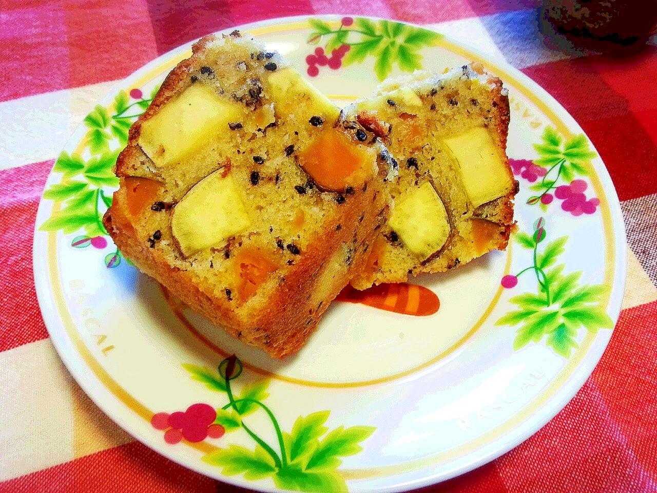 2. さつまいもとかぼちゃのパウンドケーキ