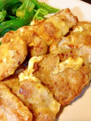 豚厚切り肉のピカタ レシピ・作...