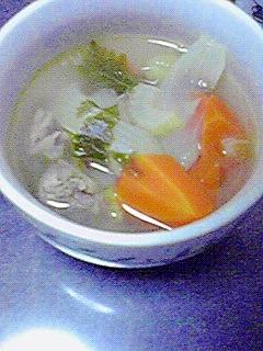 簡単おいしい☆牛肉と野菜のスープ♪