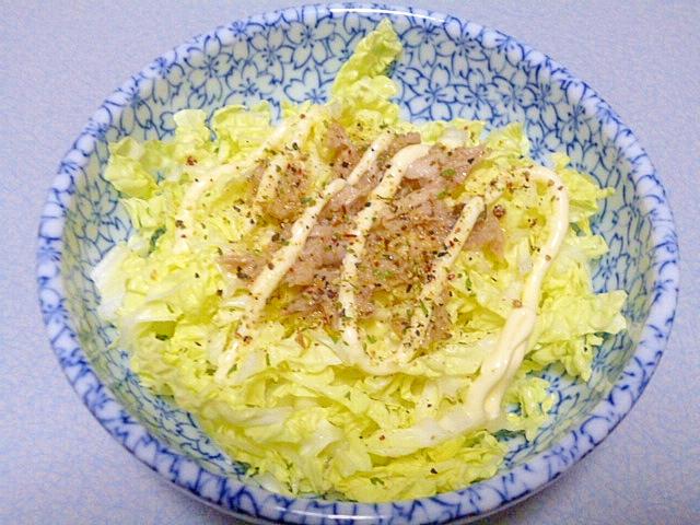 5. 白菜とツナのペッパーソルトサラダ