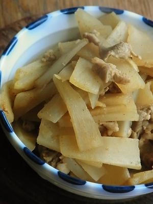ヤーコンと豚の和風カレー炒め
