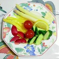 ホワイトアスパラとラディッシュのサラダ~