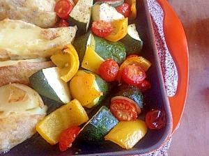 ルクルーゼのグリルパンでロースト野菜