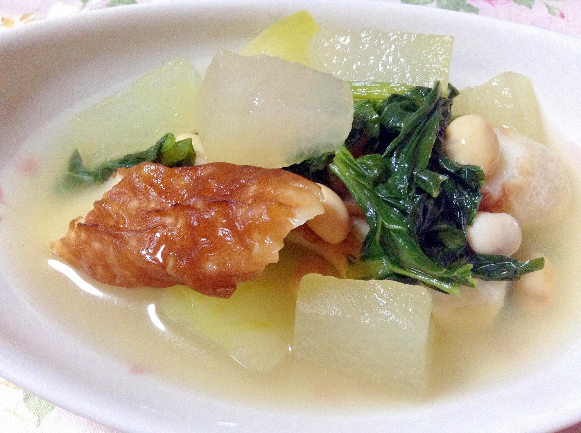 おでんの素で冬瓜と大豆と竹輪の煮物
