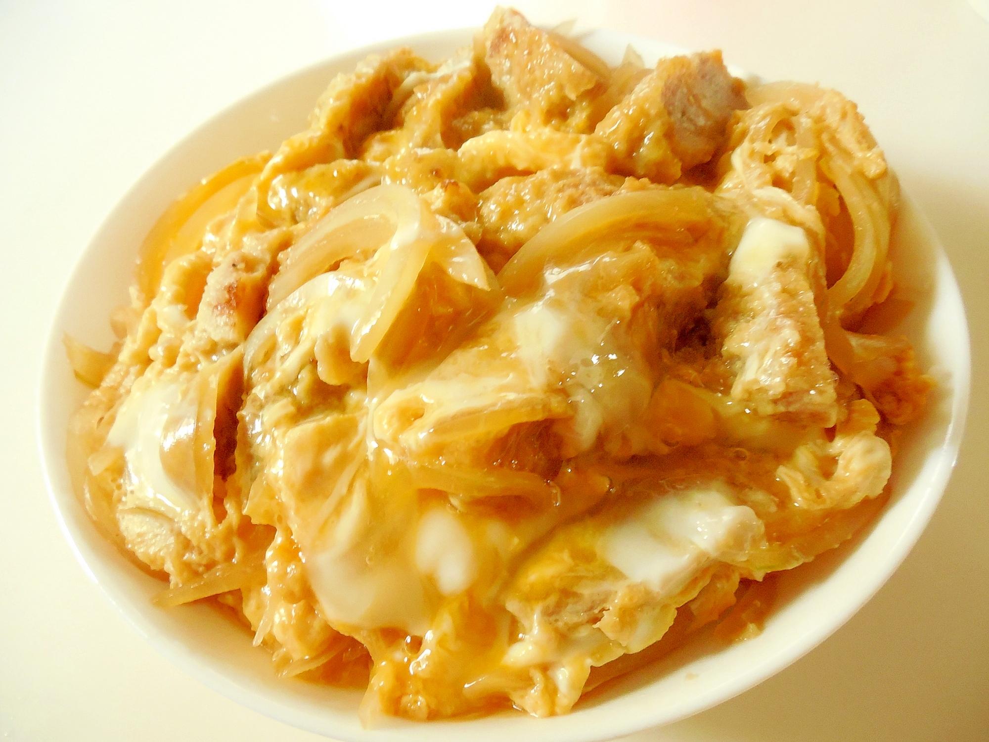 シンプルに簡単に めんつゆカツ丼 レシピ・作り方 by ドキンちゃん0298|楽天レシピ