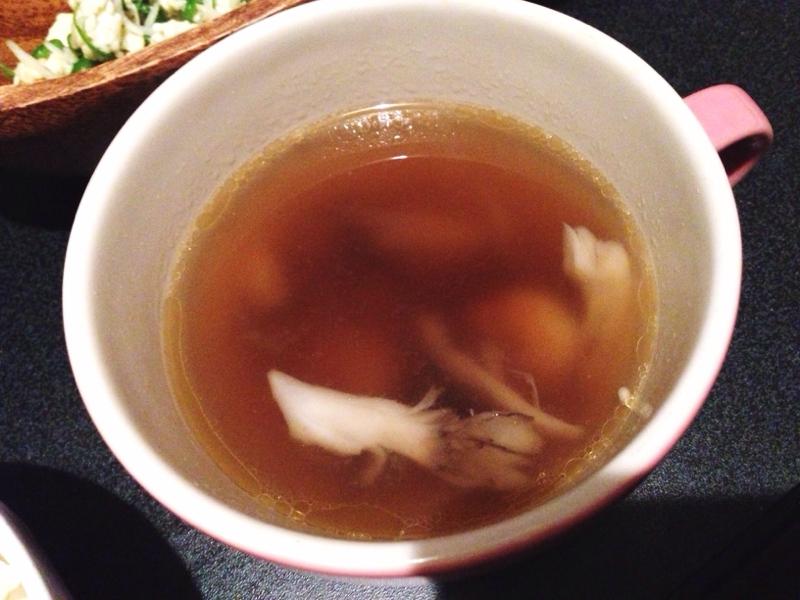 ヘルシー♪海老と舞茸の中華スープ