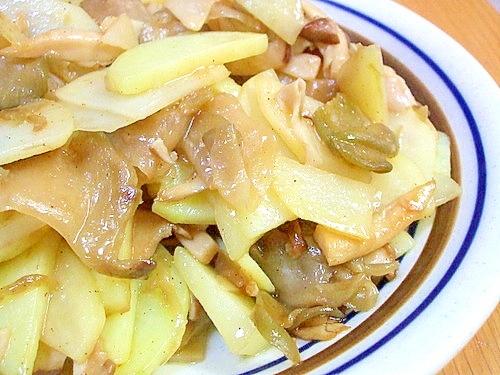 ジャガイモとエリンギのザーサイ炒め レシピ・作り方