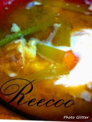 小松菜と厚揚げの味噌汁♪