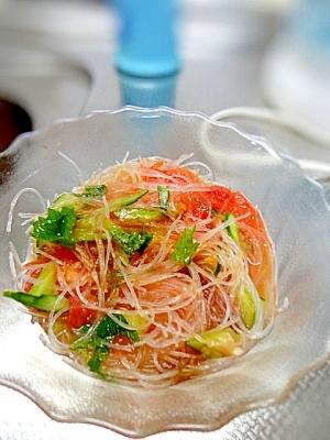 簡単副菜★春雨のトマト酢の物