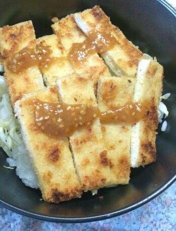 高野豆腐の味噌カツ丼