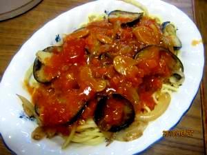 茄子入りスパゲッティナポリタン