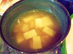 簡単☆えのきと豆腐のほんのりとろみスープ