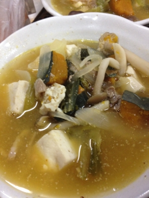 ゴマ味噌スープ