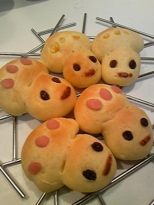 かわいい♪コドモダケのメープルパン^^