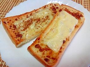 黒糖とチーズのトースト