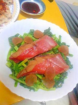 菜花と金目鯛の煮つけ