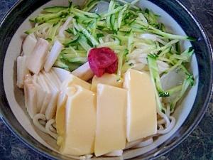 冷たい☆卵豆腐のっけうどん(簡単調理)