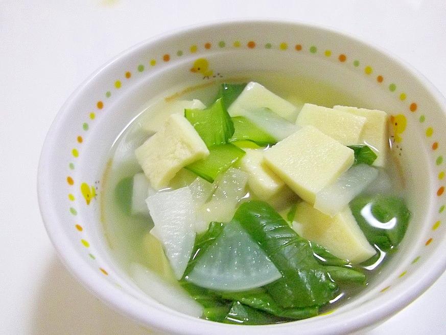 *チンゲンサイと高野豆腐の中華スープ*