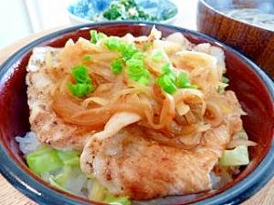 野菜たっぷりのピリ辛豚丼