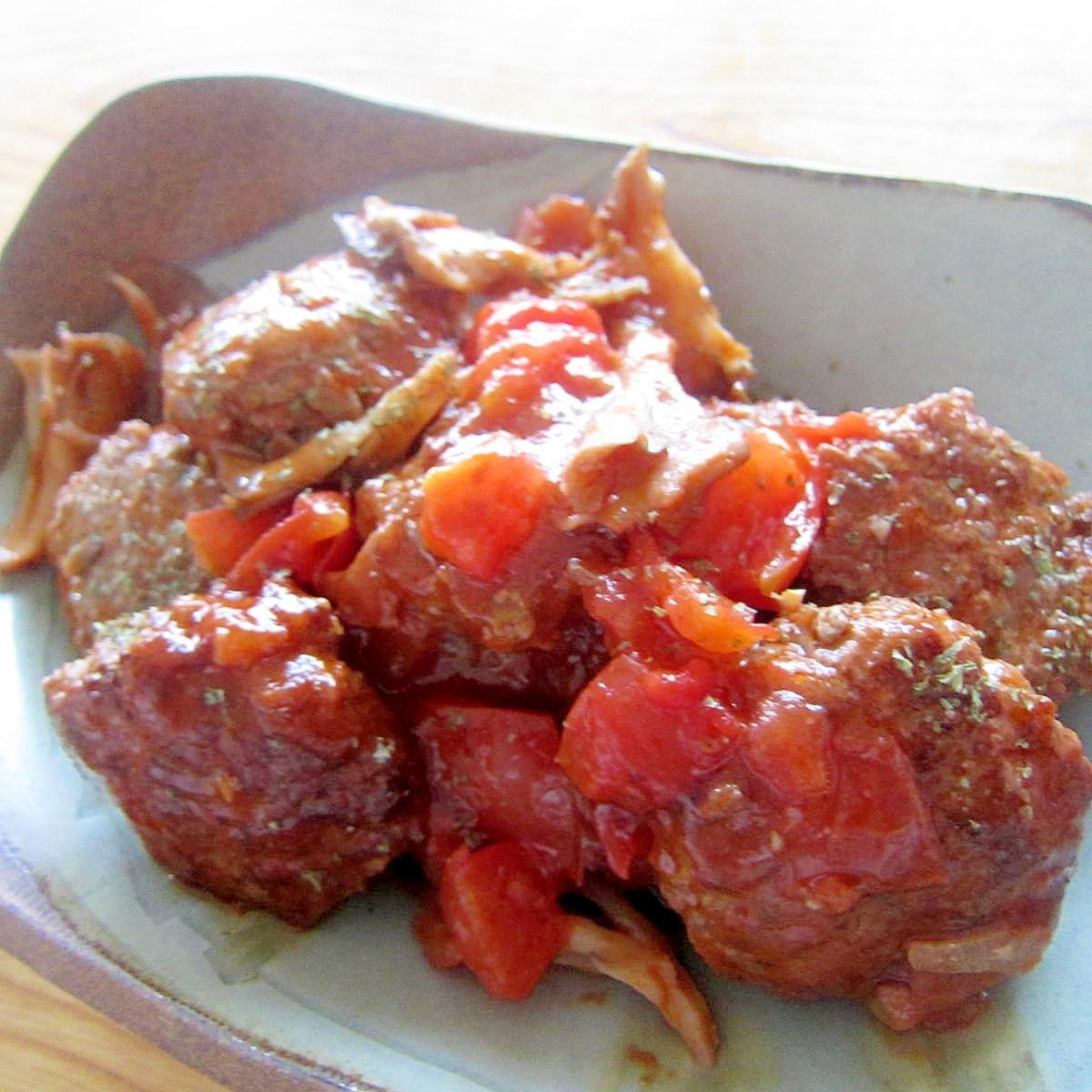 舞茸トマト牛肉ハンバーグ