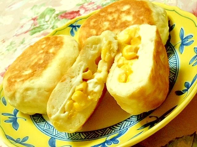 発酵無しフライパンで作るマヨコーンパン