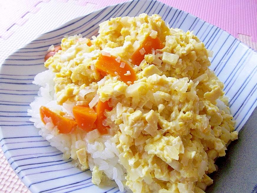 *大根としらすの卵とじ丼*