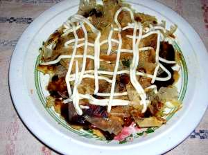 キャベツと豆腐でお好み焼き風