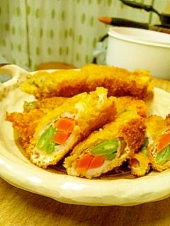 ジューシー野菜の肉巻きフライ