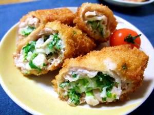 白菜のロール豚バラカツレツ