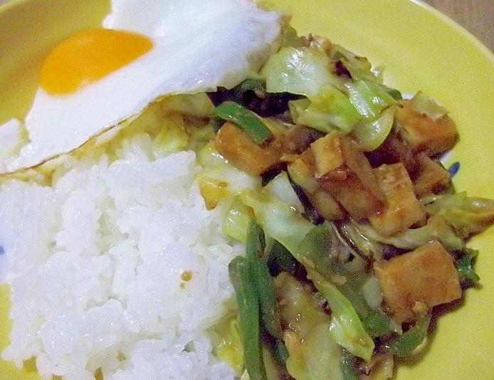 ヘルシー♪高野豆腐の回鍋肉風ごはん♪