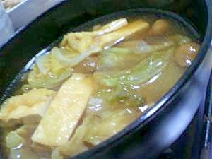 白菜と油揚げのお味噌汁